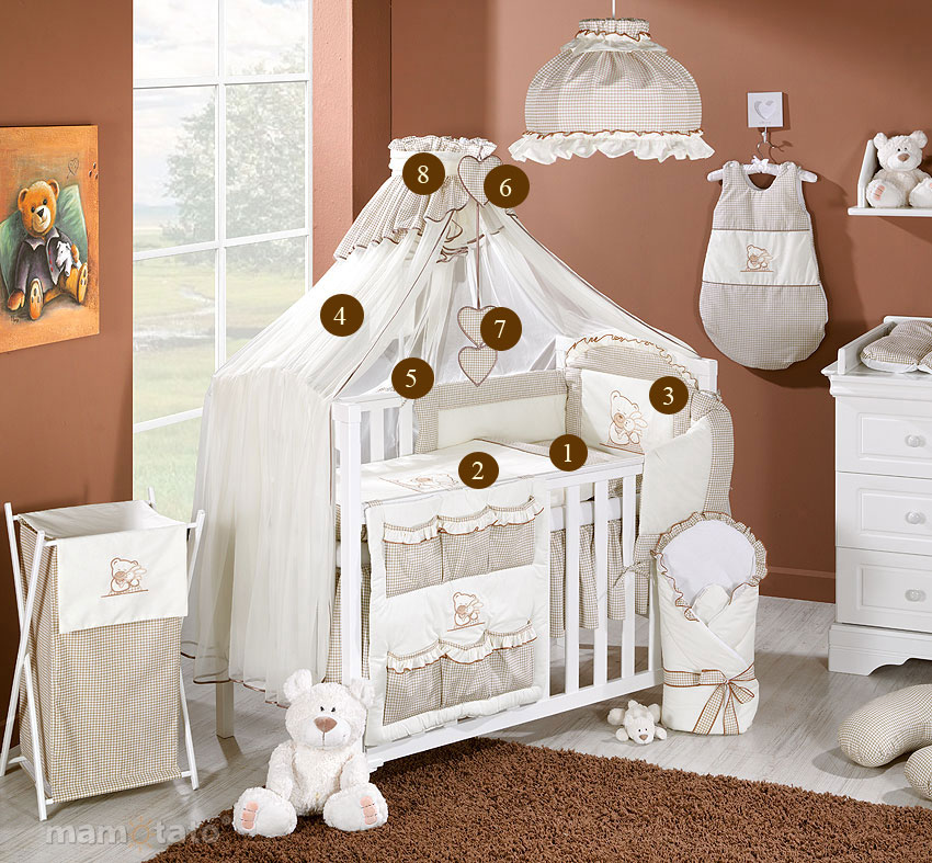 baby bettw sche bettw sche bettset a 8tlg f r babybett moskitonetz himmel ebay. Black Bedroom Furniture Sets. Home Design Ideas