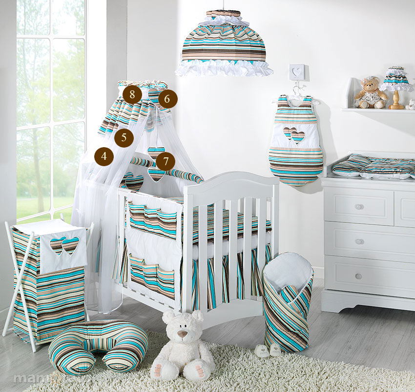 baby bettw sche bettset mit herzchen c 8tlg f r kinderbett 70x140 chiffonhimmel ebay. Black Bedroom Furniture Sets. Home Design Ideas