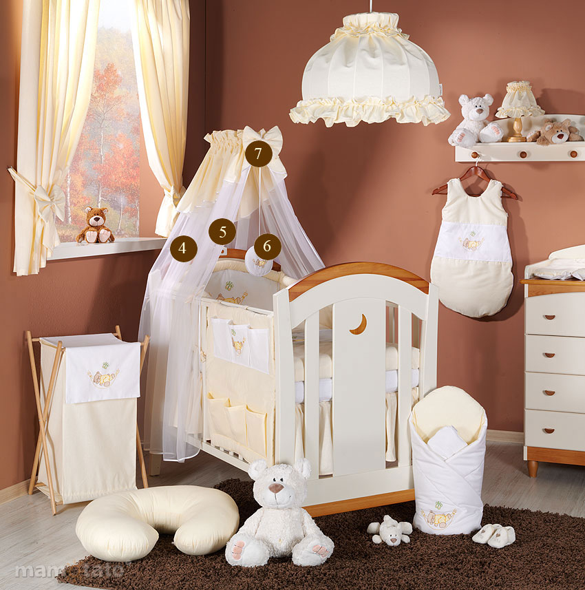 baby bettw sche bettset mit stickerei b 7tlg f r kinderbett 70x140 chiffonhimmel ebay. Black Bedroom Furniture Sets. Home Design Ideas