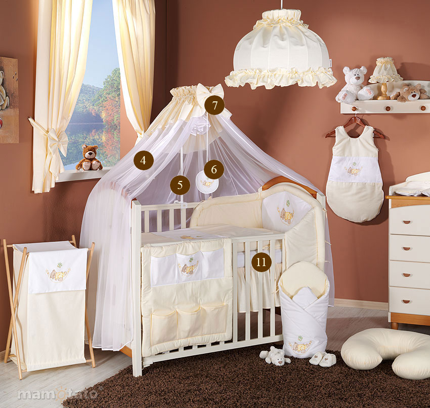baby bettw sche bettset mit stickerei b 11tlg f r kinderbett 70x140 moskitonetz ebay. Black Bedroom Furniture Sets. Home Design Ideas